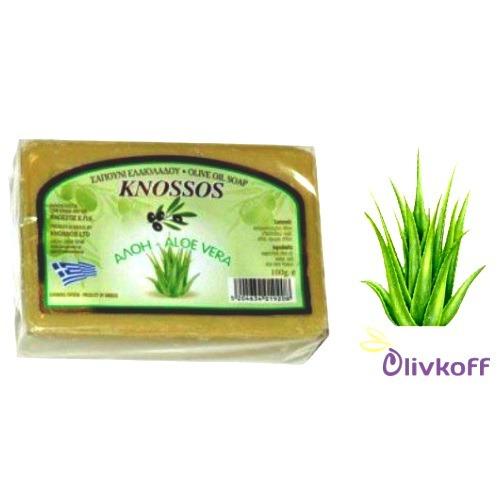 оливковое мыло с алое вера knossos