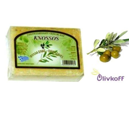 оливковое мыло с листьями оливы knossos