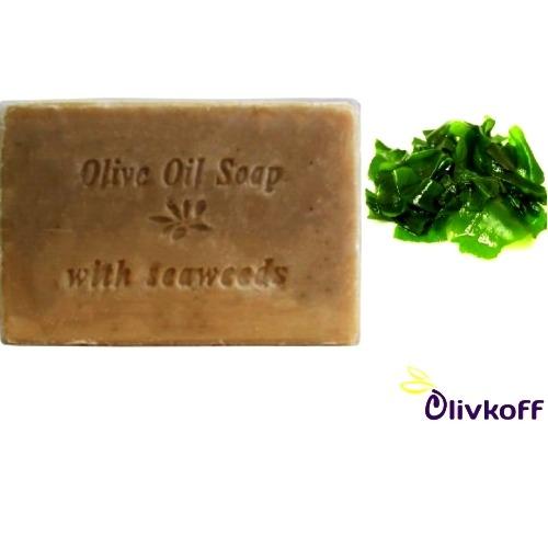 оливковое мыло с водорослями knossos